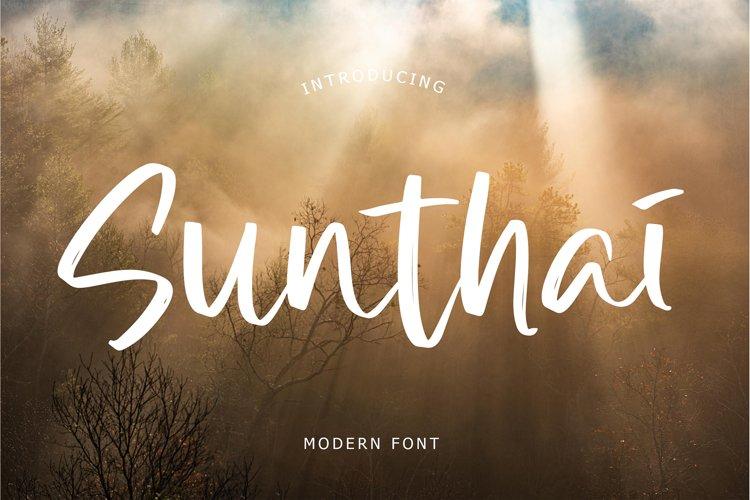 Sunthai Modern Font example image 1
