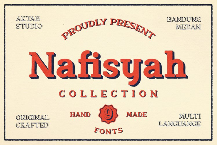 Nafisyah Slab Display Font Collection