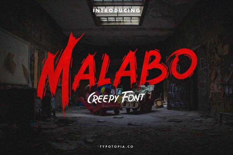 Malabo - Creepy Font example image 1