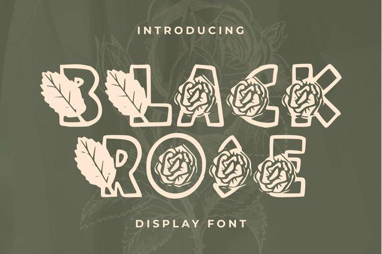 Web Font Black Rose example image 1