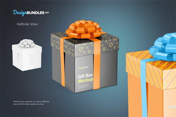 Gift Box Mockups example 2