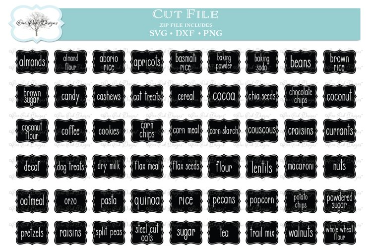 Pantry Labels Bundle of 54 Labels - SVG DXF PNG