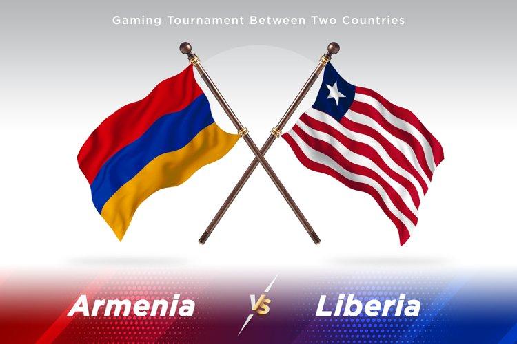 Armenia versus Liberia Two Flags example image 1