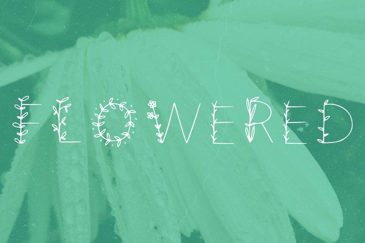 Flowered handwritten summer font in ttf, otf example image 1