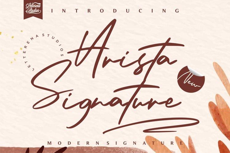 Arista Signature - Modern Signature Font example image 1