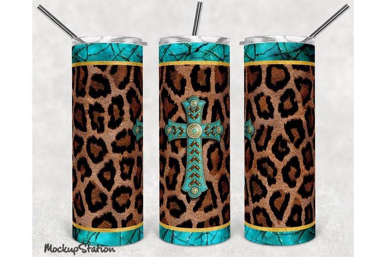 Leopard 20oz Skinny Tumbler Design Sublimation PNG example image 1