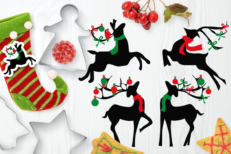Christmas Reindeer clip art illustrations example image 1