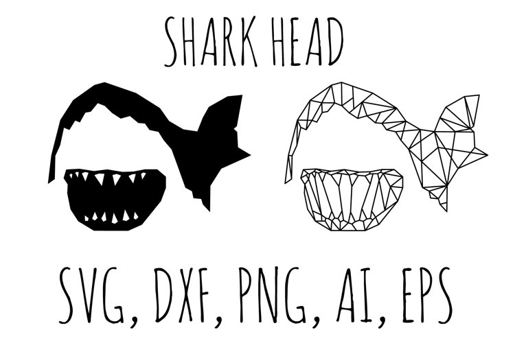 Shark svg, shark head svg, shark silhouette, dxf, png, eps.