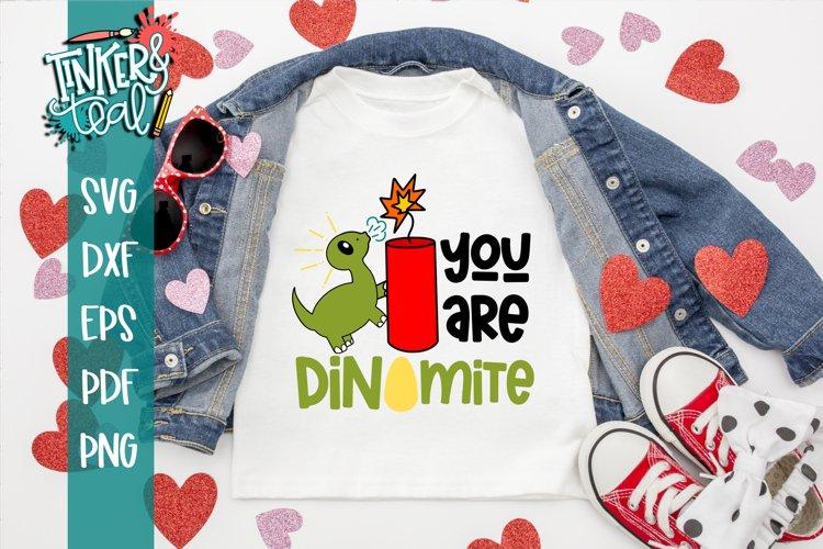 Dinomite SVG / Dinosaur svg / Valentine SVG example image 1