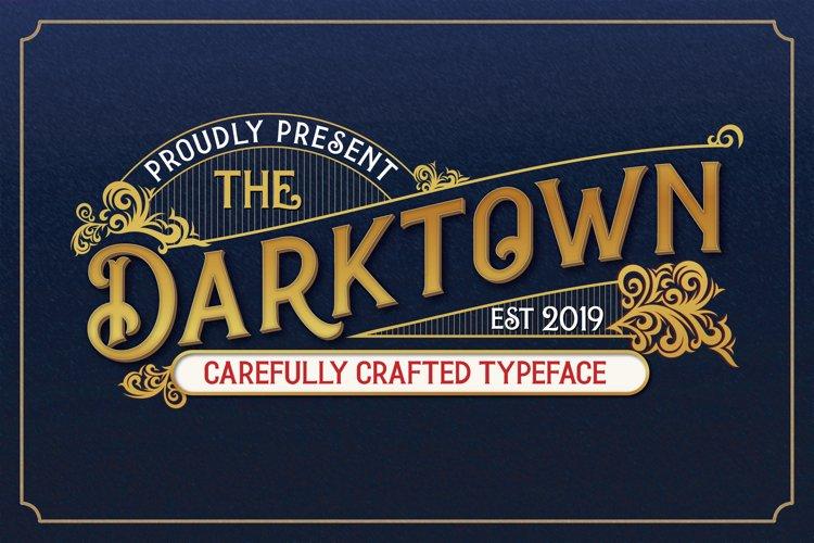Darktown Vintage Font example image 1