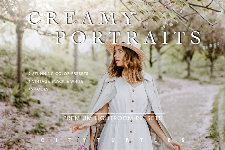 Soft Airy CREAMY PORTRAITS Lightroom Presets Pack example image 1