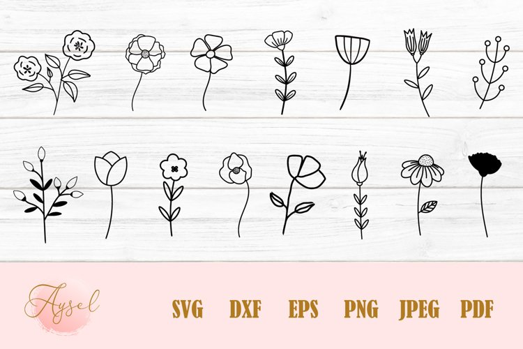 Flowers SVG, Floral SVG Bundle, Poppy SVG
