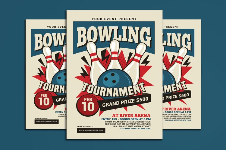Bowling Tournament Flyer example image 1