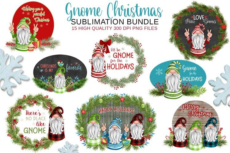 Christmas Gnome Sublimation BUNDLE example image 1