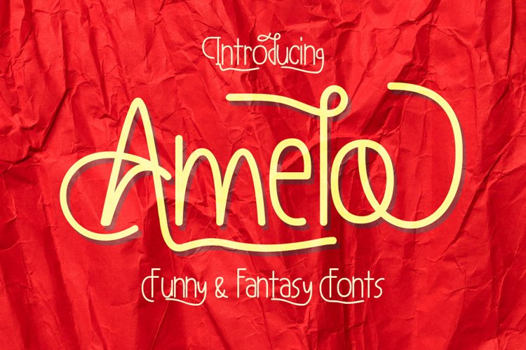 Amelo Funny & Fantasy Fonts example image 1