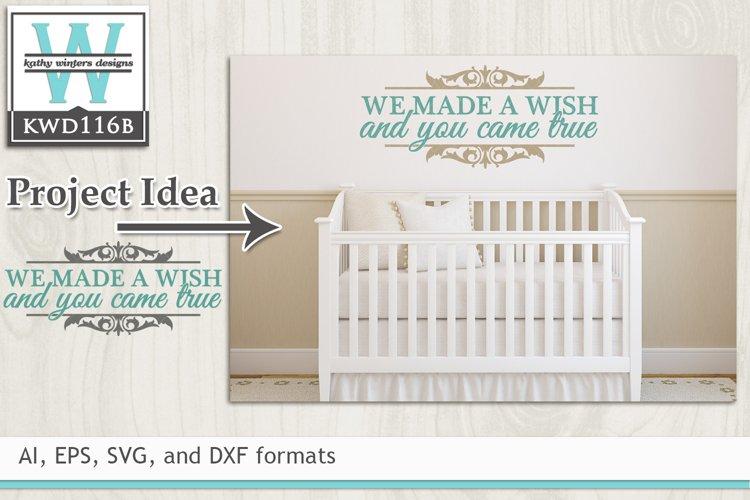 Children SVG - We Made A Wish