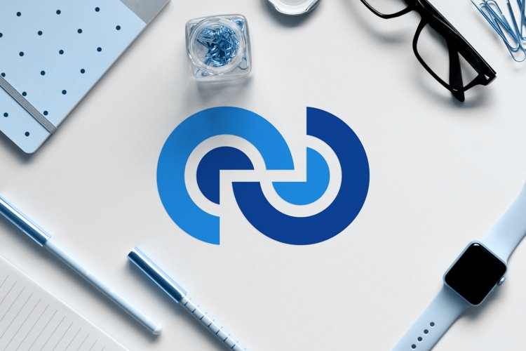 abstract modern logo from infinity or letter C