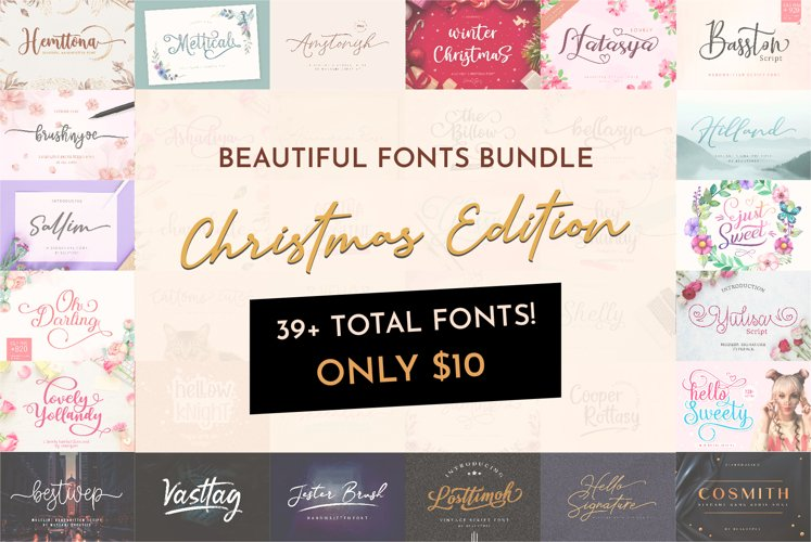 Special Christmas Handwritten Font Bundle example image 1