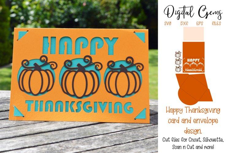 Thanksgiving card and envelope design SVG / DXF / EPS file