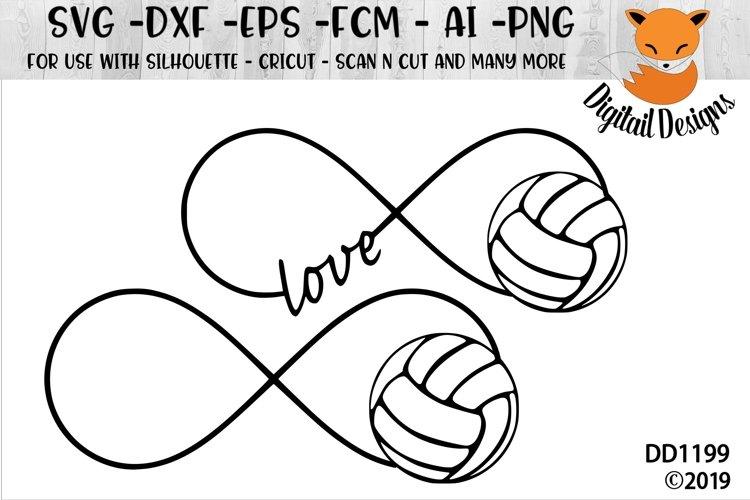 Volleyball Infinity SVG