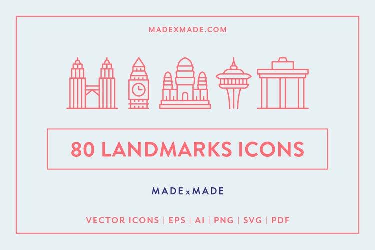Line Icons - Landmarks example image 1