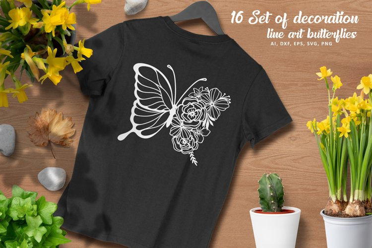 16 Set Butterflies SVG files for Silhouette and Cricut example image 1
