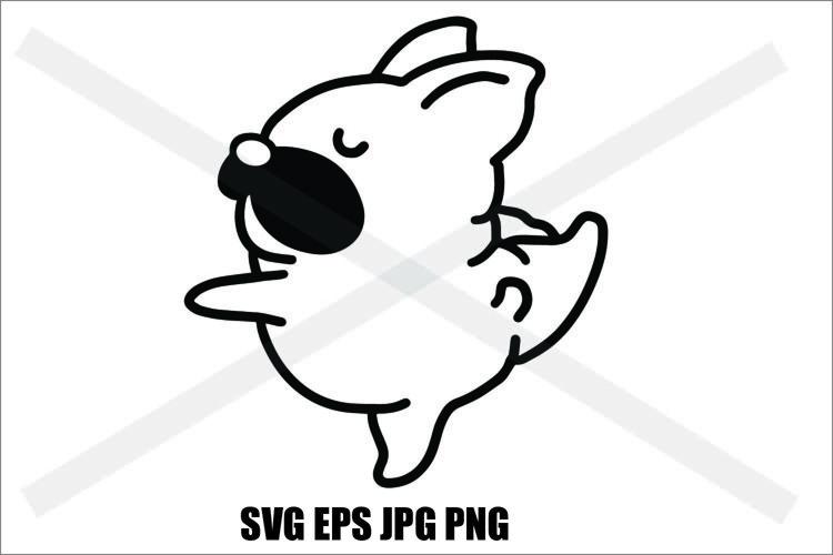 Pug Cute- SVG-EPS-JPG-PNG example image 1