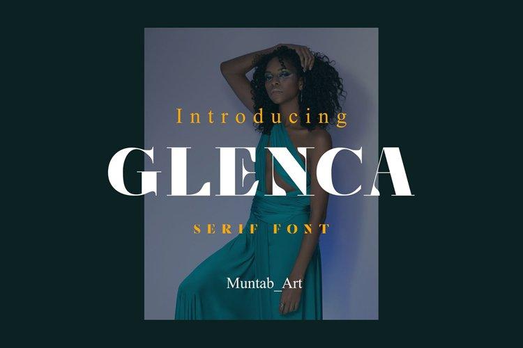 Glenca | Modern Serif font example image 1