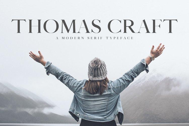 Thomas Craft A Modern Serif Typeface example image 1
