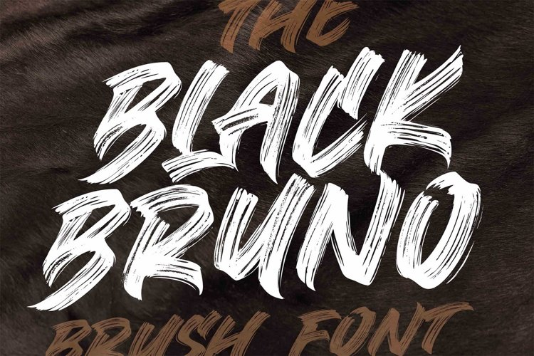 BLACK BRUNO // Brush Font example image 1