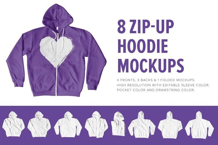 8 Premium Zip-Up Hoodie Mockups example image 1