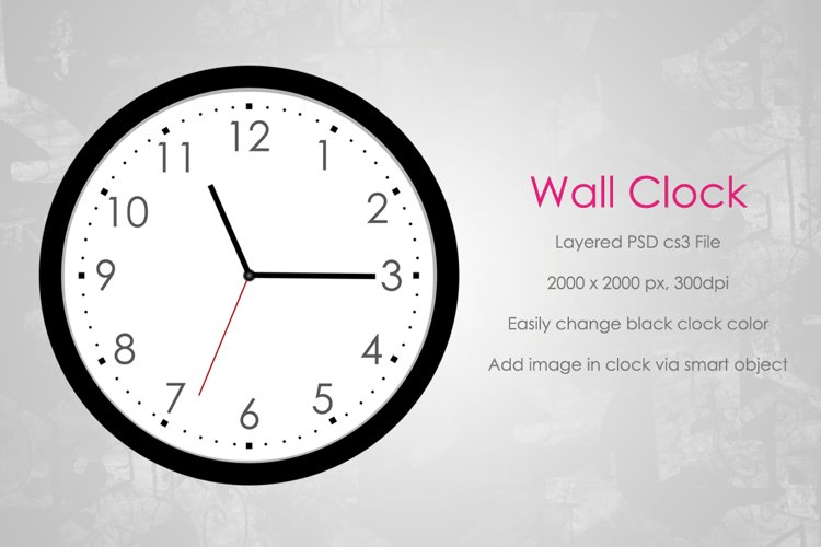 Wall Clock Mockup (Round) example image 1