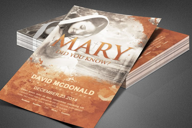 Mary Did You Know? Church Flyer