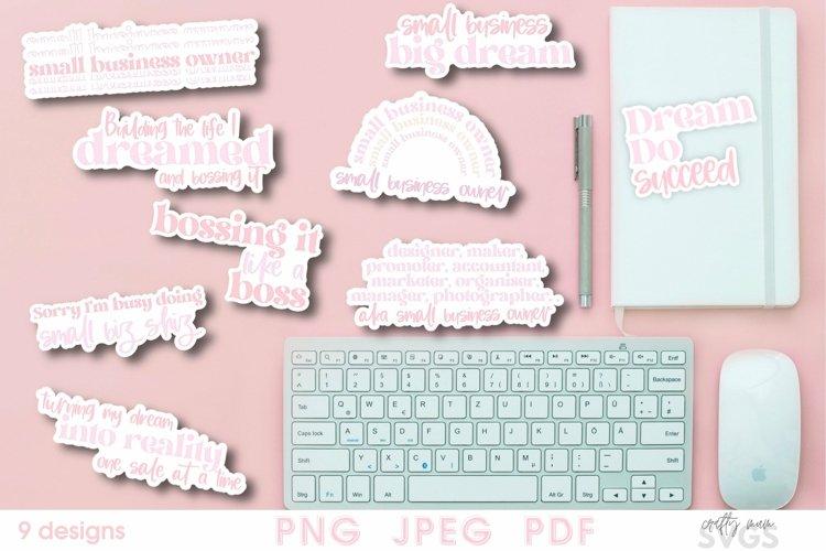 Small business sticker bundle | 9 designs sticker pack