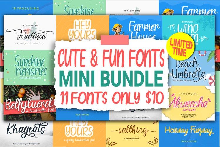 Cute & Fun Fonts Mini Bundle example image 1