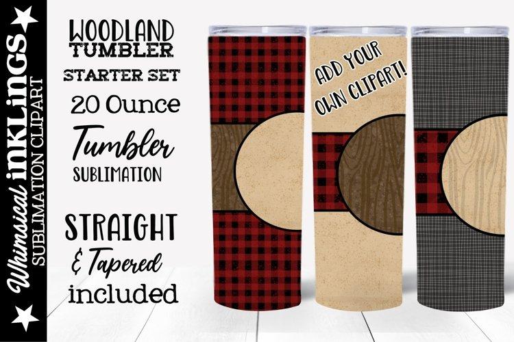 Woodland Tumbler Sublimation Clipart Set of 3 example