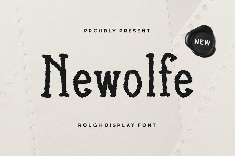 Web Font Newolfe Display Font example image 1