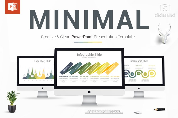 Creative Minimal PowerPoint Template example image 1