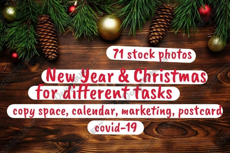 New year and christmas for different tasks
