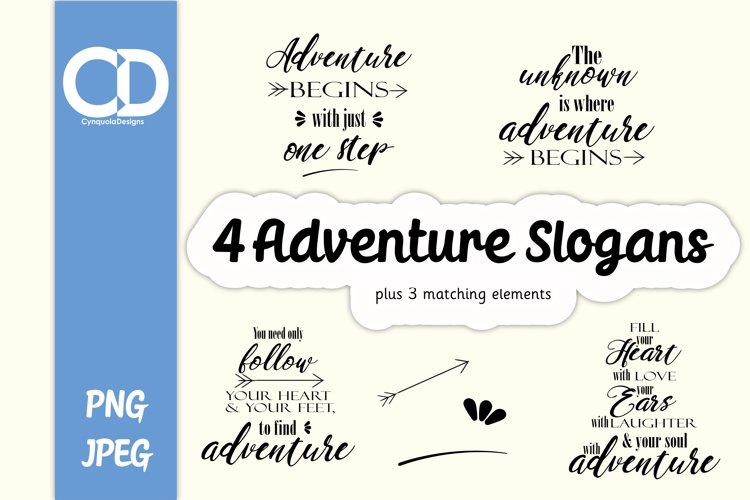 4 Adventure Slogan plus 3 Matching Elements example image 1
