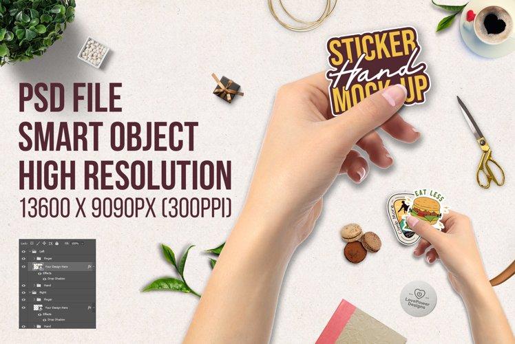 Sticker Mockup | Hand Sticker Mockup PSD | Nail Polish Updat example image 1