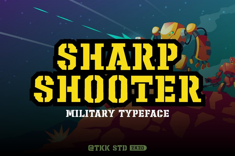 Sharpshooter - Military Stencil Font example image 1