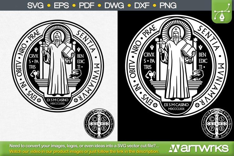 San Benito Saint benedict catholic medal by Artworks SVG