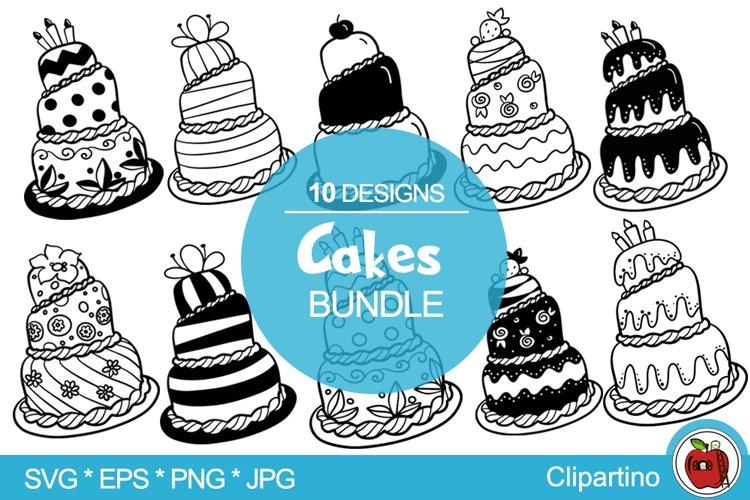 Birthday cakes SVG Bundle-Wedding cakes svg cut files
