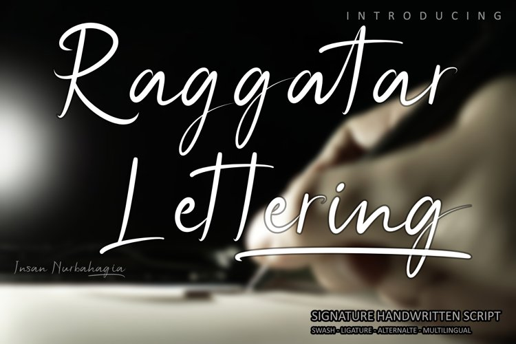Raggatar Lettering example image 1