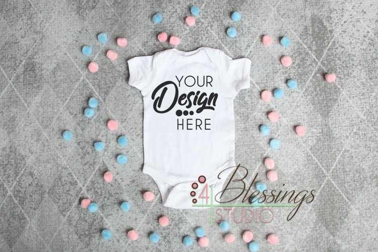 Mockup Template Bodysuit Baby Big Brother Big Sister Gender