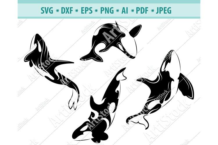 Orca SVG, Killer Whale PNG, Killer Whale Clipart, Dxf, Eps