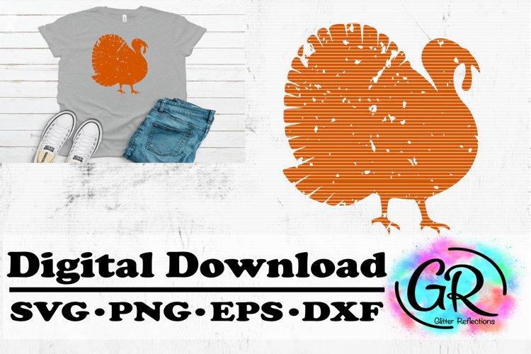 Distressed Turkey- Turkey SVG- Cricut File- Turkey example image 1