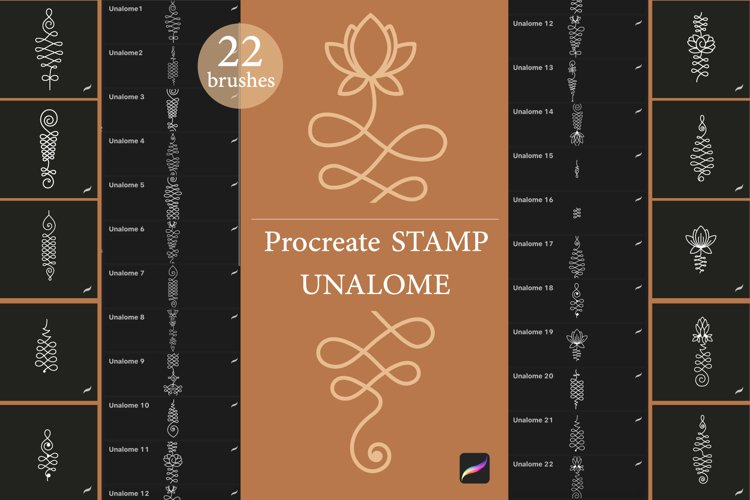 Procreate stamp brushes Unalome