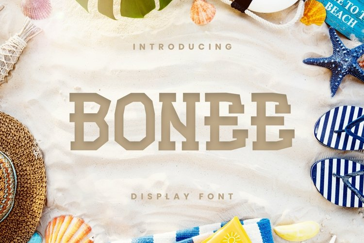 Web Font Bonee Font example image 1
